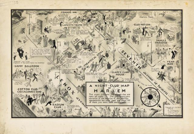 1932 map of harlem nightclubs