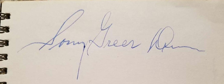 Sonny Greer autograph