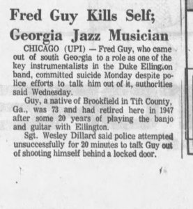 fred guy newspaper clipping