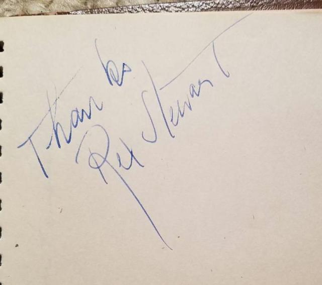 Rex Stewart Autograph